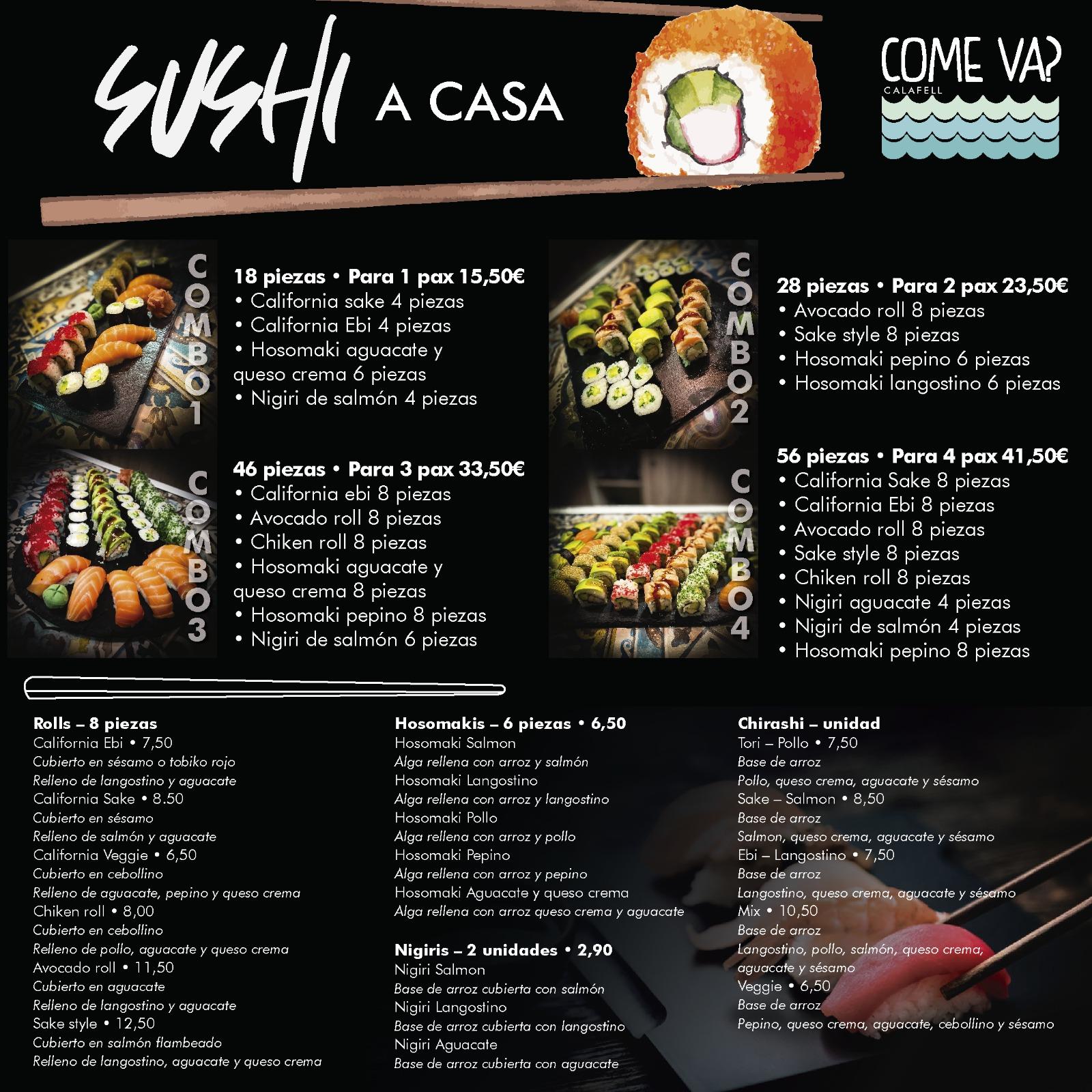 Sushi a casa come va calafell